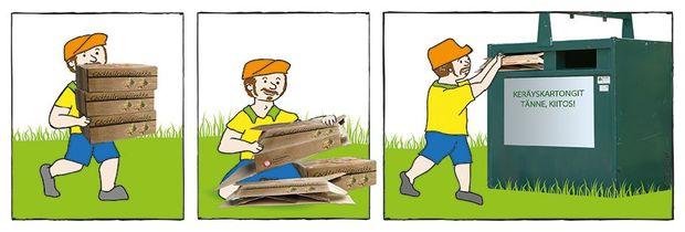 Muista kierrättää kuitupakkaukset
